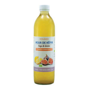 agua de kéfir de higo y limón